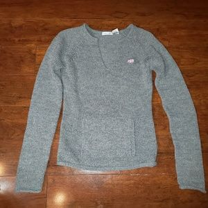 Energie gray sweater pink bear on front